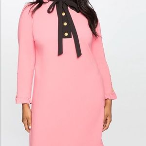 Eloquii Pink Ruffle Dress 22 Viola Fit